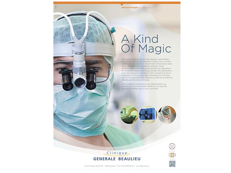 Clinique Générale-Beaulieu - Campagne presse spécialisée - Sujet Neurochirurgie
