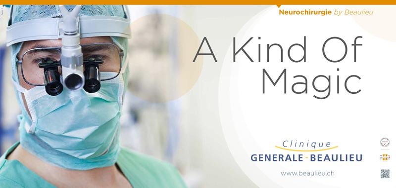Clinique Générale-Beaulieu - Campagne d'affichage - Sujet Neurochirurgie