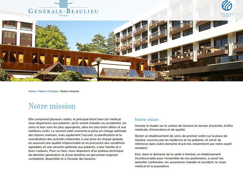 Clinique Générale-Beaulieu - Site internet