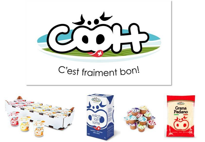 """Création du nom """"COOH"""" pour une gamme de produits laitiers"""