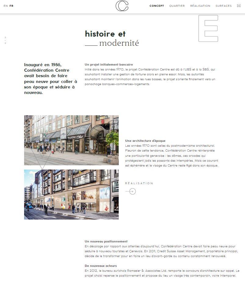 Confédération Centre - Site web #2