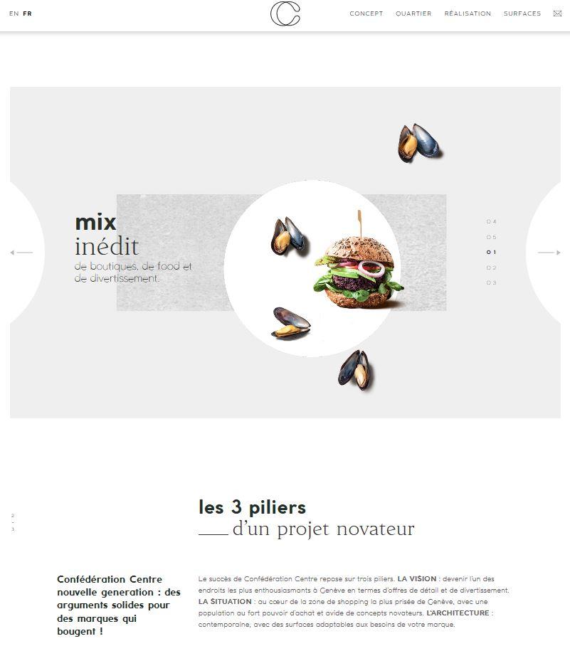 Bâtiment - Confédération Centre - Site internet - Page Piliers