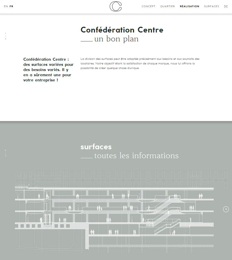 Confédération Centre - Site web #5