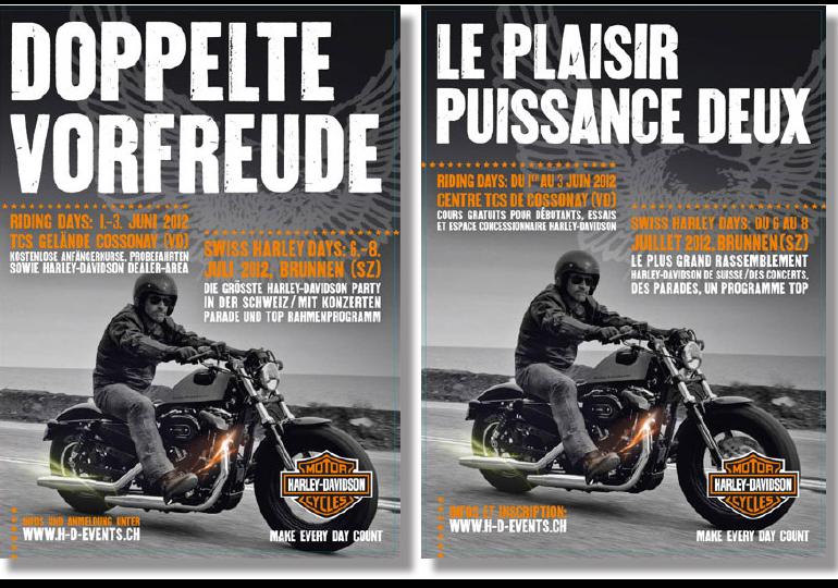 Harley-Davidson Suisse - Campagne nationale événements