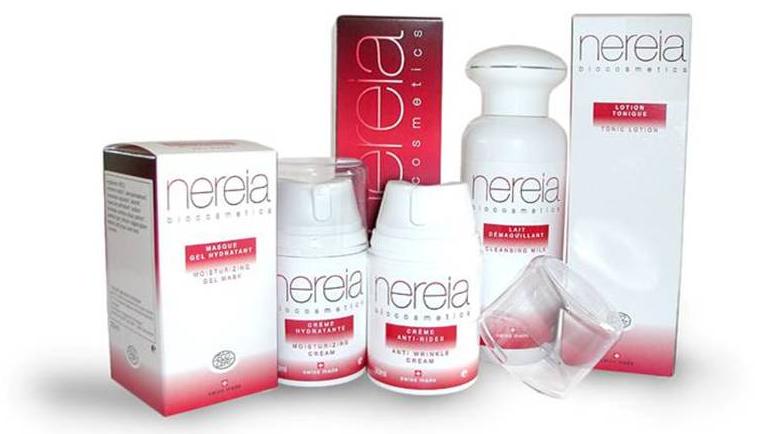 """Création du nom """"NEREIA"""" pour une gamme de produits cosmétiques bio"""