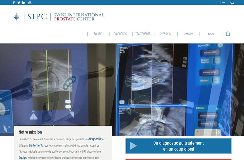 Swiss International Prostate Center - Site internet