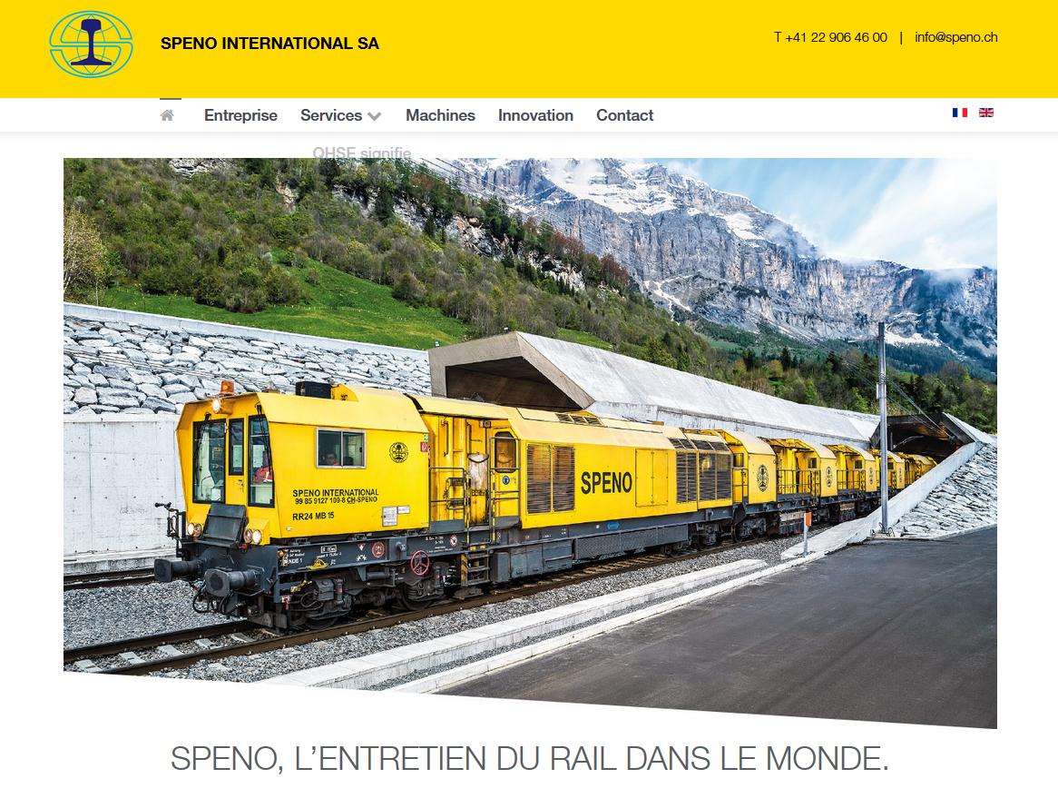 Services - SPENO International - Site internet