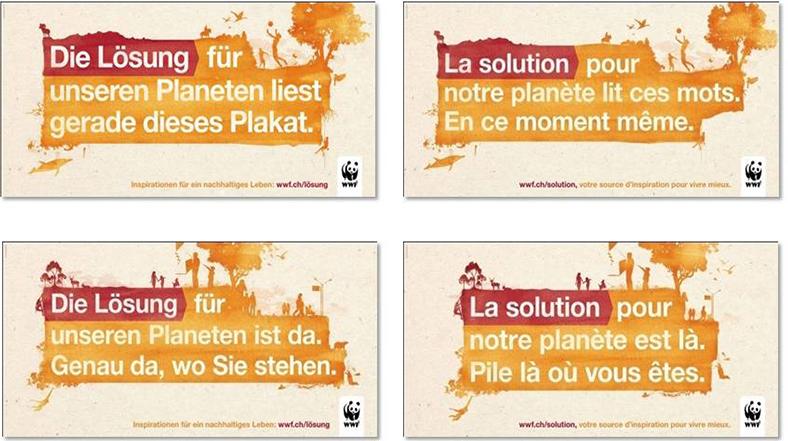 WWF Suisse - Campagne nationale de sensibilisation