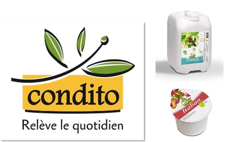 """Création du nom """"CONDITO"""" pour une gamme de produits d'épicerie"""