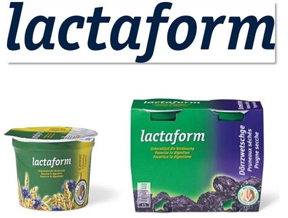 """Création du nom """"LACTAFORM"""" pour une gamme de produits laitiers probiotiques"""