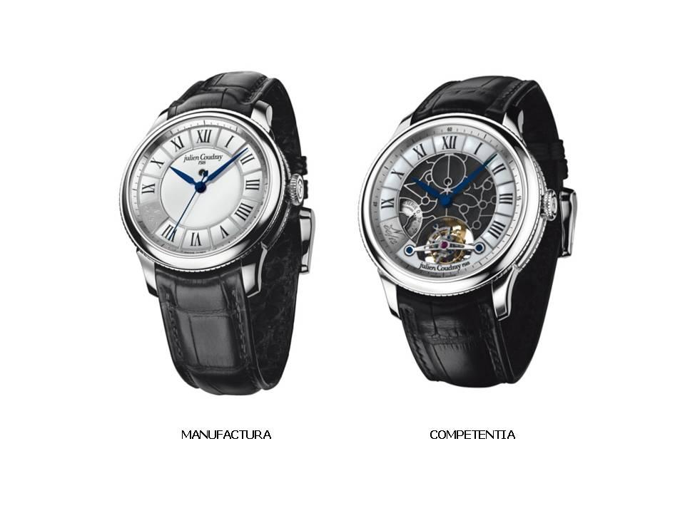 """Création des noms """"MANUFACTURA"""" et """"COMPETENTIA"""" pour deux lignes de montres de Haute Horlogerie"""