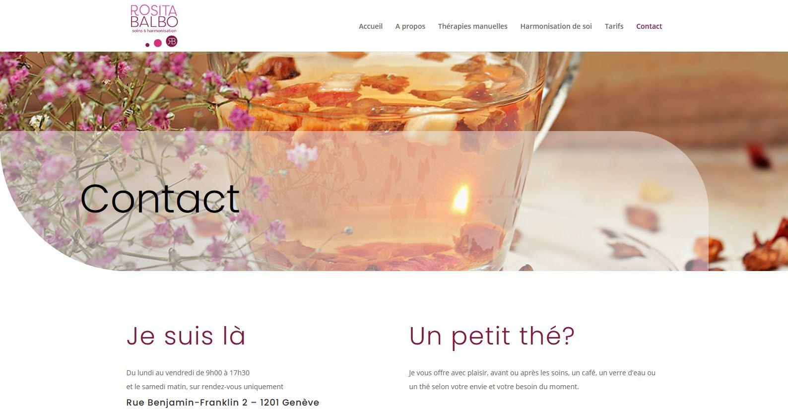 Santé - Rosita Balbo - Site internet - Page Contact