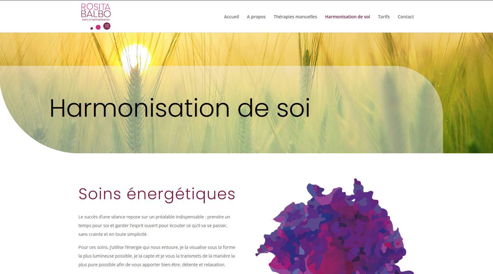 Santé - Rosita Balbo - Site internet - Page Harmonisation de soi
