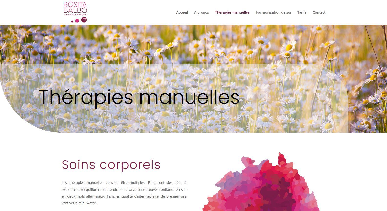 Santé - Rosita Balbo - Site internet - Page Thérapies manuelles