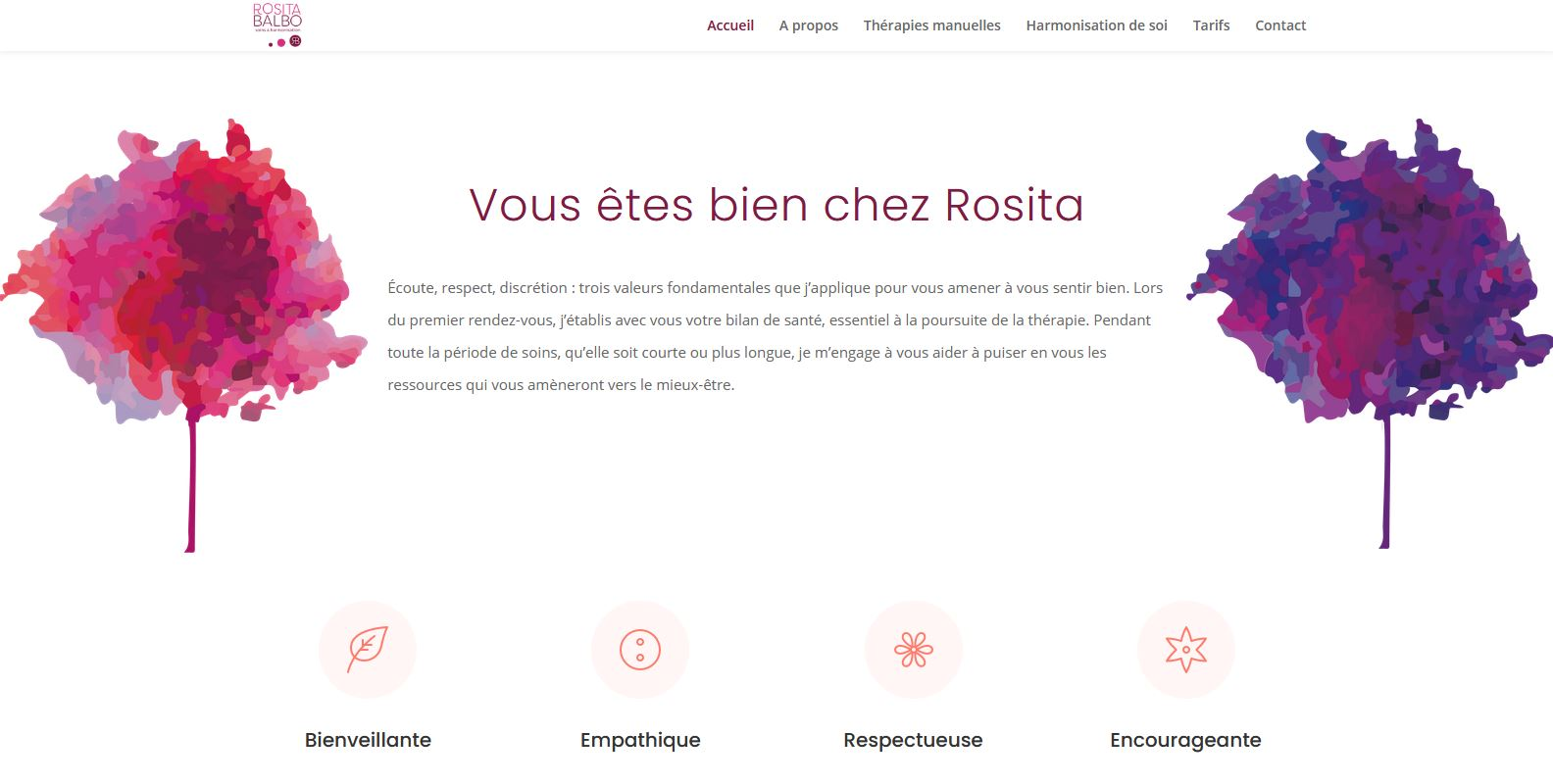 Santé - Rosita Balbo - Site internet - Page Vous êtes bien chez Rosita