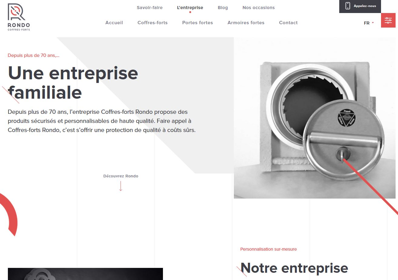 Services - Coffres-forts Rondo - Site internet - Entreprise familiale