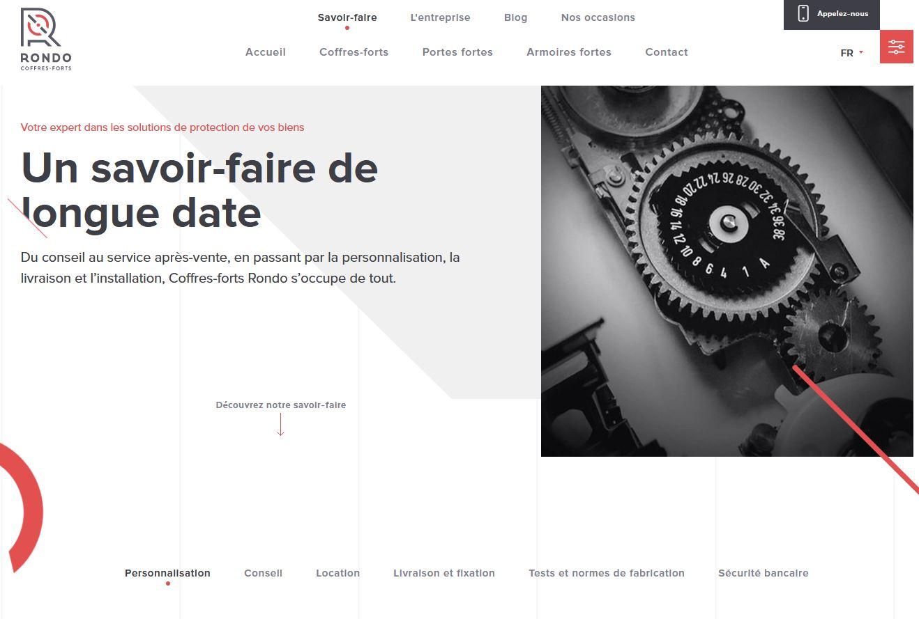 Services - Coffres-forts Rondo - Site internet - Savoir-faire